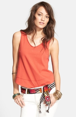 'Toying Around' V-Back High/Low Tank Top by Free People in The Longest Ride
