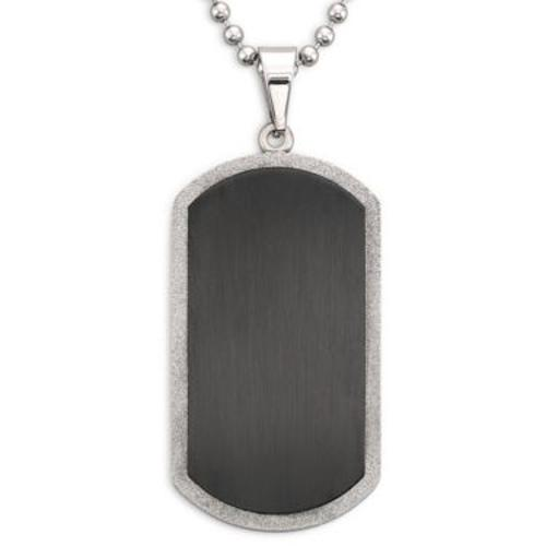 Men's Dog Tag Stainless Steel by JC Penney in Ride Along