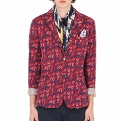 Paisley Cotton Jacquard Blazer by Bob in Hands of Stone