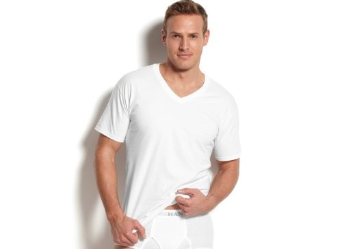Men's V-Neck T-Shirt by Hanes in If I Stay