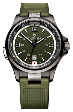'Night Vision' Rubber Strap Watch by Victorinox Swiss Army in Scandal