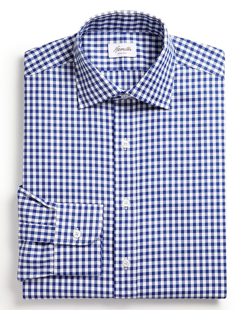 Gingham Check Oxford Dress Shirt by Hamilton in Black-ish - Season 2 Episode 4