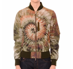 Tie-Dye Zip-Up Bomber Jacket by Valentino in Empire