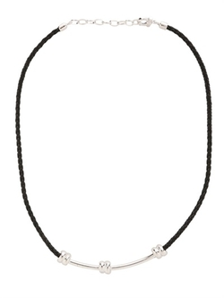 Nodo Silver & Leather Necklace by Salvatore Ferragamo Jewels in Ride Along 2