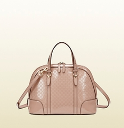 Nice Microguccissima Patent Handle Bag by Gucci in Suits