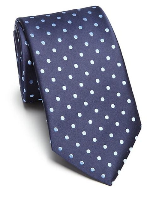 Polka Dot Silk Tie by Eton of Sweden in Love Actually
