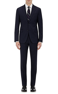 Striped Two-Button Suit by Barneys New York in Guilt