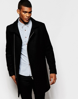 Asymmetric Overcoat by Asos in Master of None