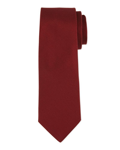 Grosgrain Solid Tie by Lanvin in Youth
