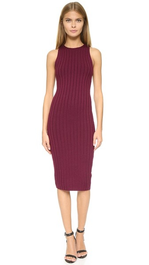 Varvana Ribbed Knit Dress by Ronny Kobo in Keeping Up With The Kardashians - Season 11 Episode 7