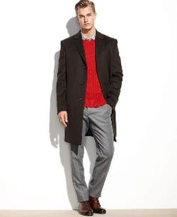 Raburn Wool-Blend Over Coat by Kenneth Cole Reaction in The Wolverine