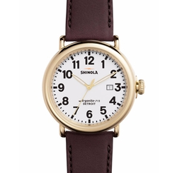 Runwell Leather Watch by Shinola in Allied