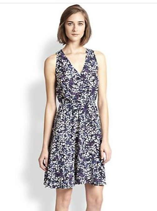 Floral Silk Dress by Rebecca Taylor in The Best of Me