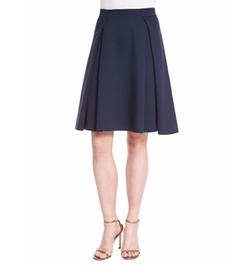 Box-Pleated Jersey A-Line Skirt by Armani Collezioni in Fuller House