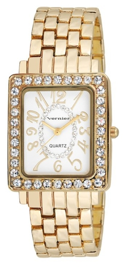 Crystal Bezel Bracelet Watch by Vernier in Bridesmaids