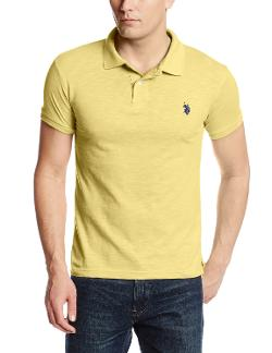 Men's Slim Fit Cotton Slub Solid Polo by U.S. Polo Assn. in Million Dollar Arm