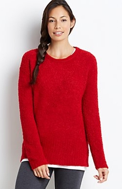 Pure Jill Plush Pullover by J.Jill in Captive