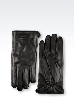 Napa Leather Glove by Armani Collezioni in Legend