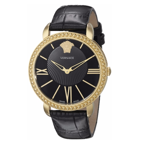 New Krios Gold Ion-Plated Stainless Steel Watch by Versace in Rosewood - Season 1 Episode 19