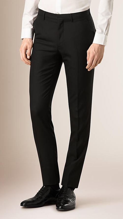 Slim Fit Wool Trouser Pants by Burberry in Confessions of a Shopaholic