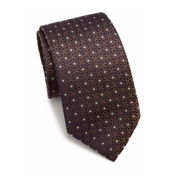 Circle Pattern Silk Tie by Eton of Sweden in Gold