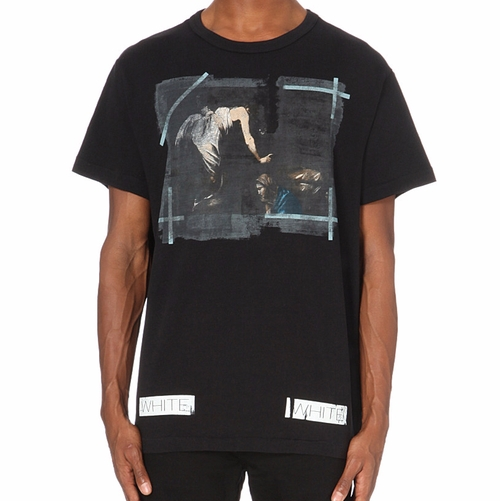 Caravaggio Cotton-Jersey T-Shirt by Off-White C/O Virgil Abloh in Ballers