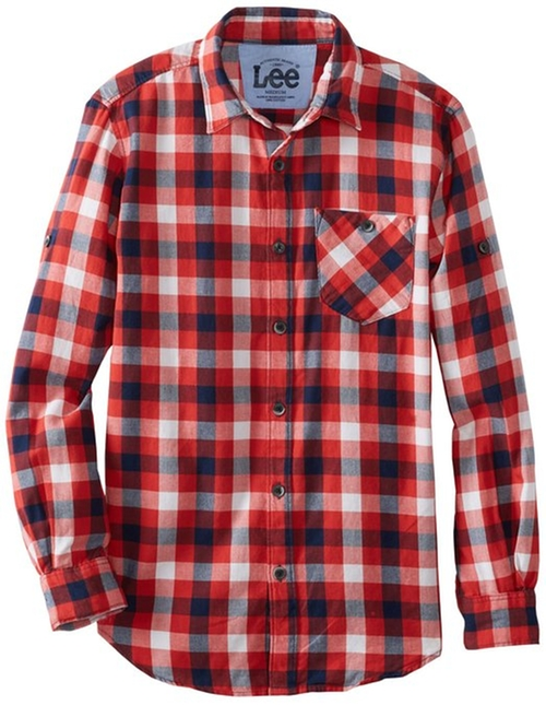 Big Boys' Woven Yarn Dye Shirt by Lee in Vacation