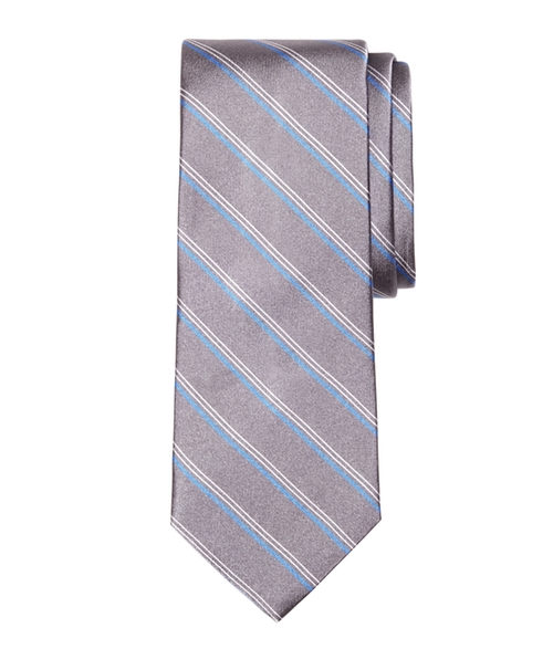 Triple Stripe Tie by Brooks Brothers in Supergirl - Season 1 Episode 3