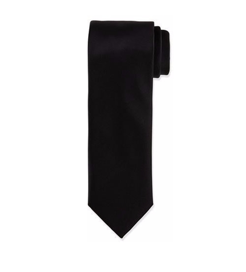 Solid Silk Satin Tie by Brioni in Suits - Season 6 Episode 5
