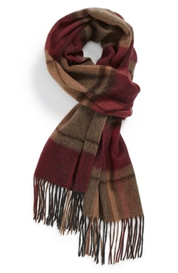 Large Plaid Wool Scarf by Nordstrom in Mamma Mia!