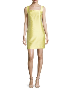 Sleeveless Thin-Striped Sheath Dress by Christian Siriano in Empire