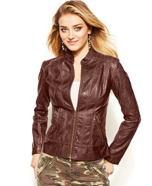 Faux-Leather Jacket by Guess in New Year's Eve
