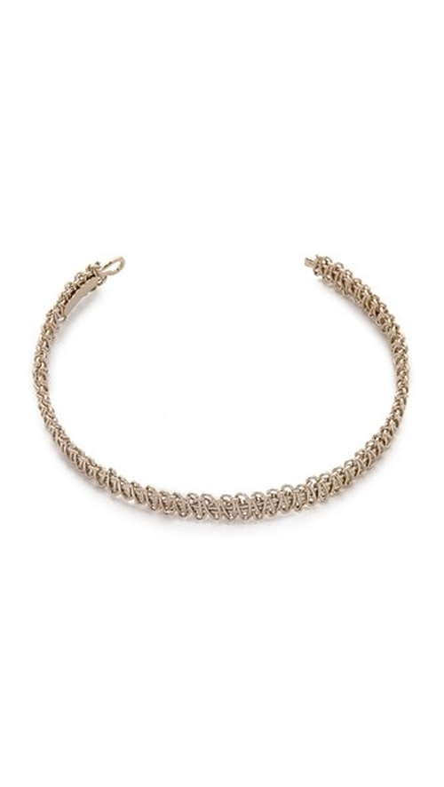 Woven Metal Choker Necklace by Maison Margiela in Keeping Up With The Kardashians - Season 11 Episode 13