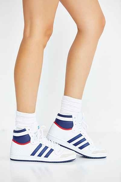 Top Ten Hi Leather Sneaker by Adidas Originals in Keeping Up With The Kardashians