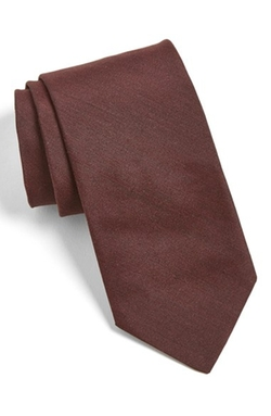 Solid Silk Tie by Ted Baker in Legend