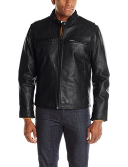 Lamar Cow Leather Moto Jacket by Marc New York By Andrew Marc in Point Break