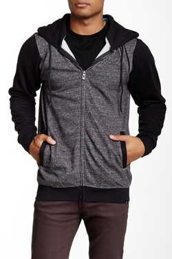 Colorblock Zip Hoodie by Burnside in The Intern