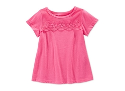 Baby Girls' Lace Overlay T-Shirt by First Impressions in Modern Family
