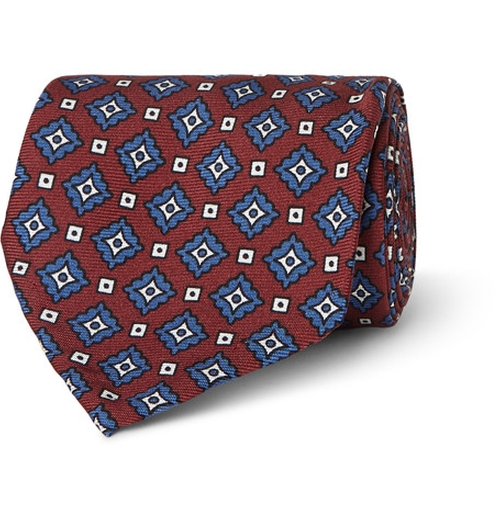 Medallion-Print Woven Silk Tie by Rubinacci in Scarface