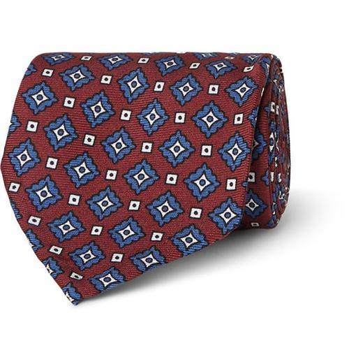 Medallion-Print Woven Silk Tie by Rubinacci  in Scarface