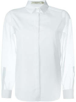 Sheer Sleeve Shirt by Burberry London in Suits