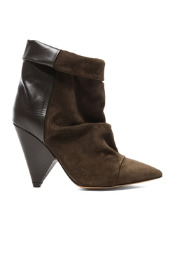 Andrew Calfskin Velvet Leather Boots by Isabel Marant in Pretty Little Liars