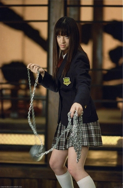 Custom Made Japanese School Girl Uniform by Catherine Marie Thomas (Costume Designer) in Kill Bill: Vol. 1