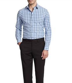 Slim-Fit Gingham Check Sportshirt by Giorgio Armani in Ballers