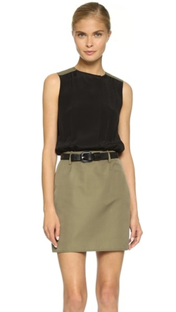 Two Tone Shirtdress by Victoria Victoria Beckham in Elementary