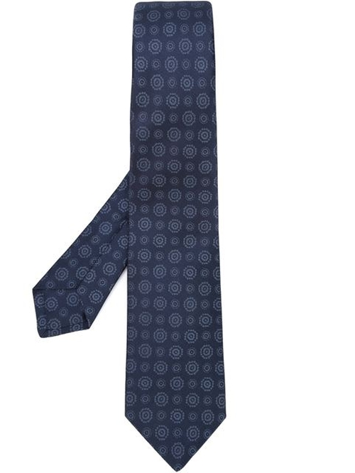 Patterned Pointed Tip Tie by Kiton in Wedding Crashers