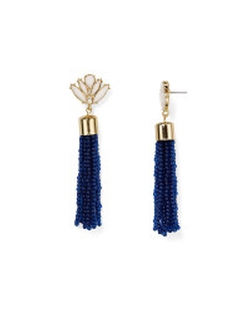 Gold Acid Fringe Drop Earrings by Baublebar in Pretty Little Liars