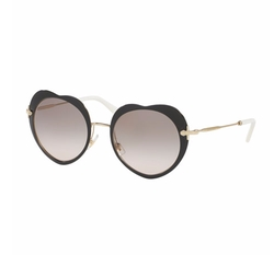 Mirrored Heart Sunglasses by Miu Miu in Fuller House
