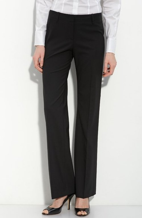 'Tulia' Tropical Wool Trousers by Hugo Boss in The Gambler