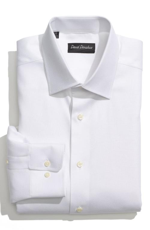 Royal Oxford Regular Fit Dress Shirt by David Donahue in X-Men: Days of Future Past